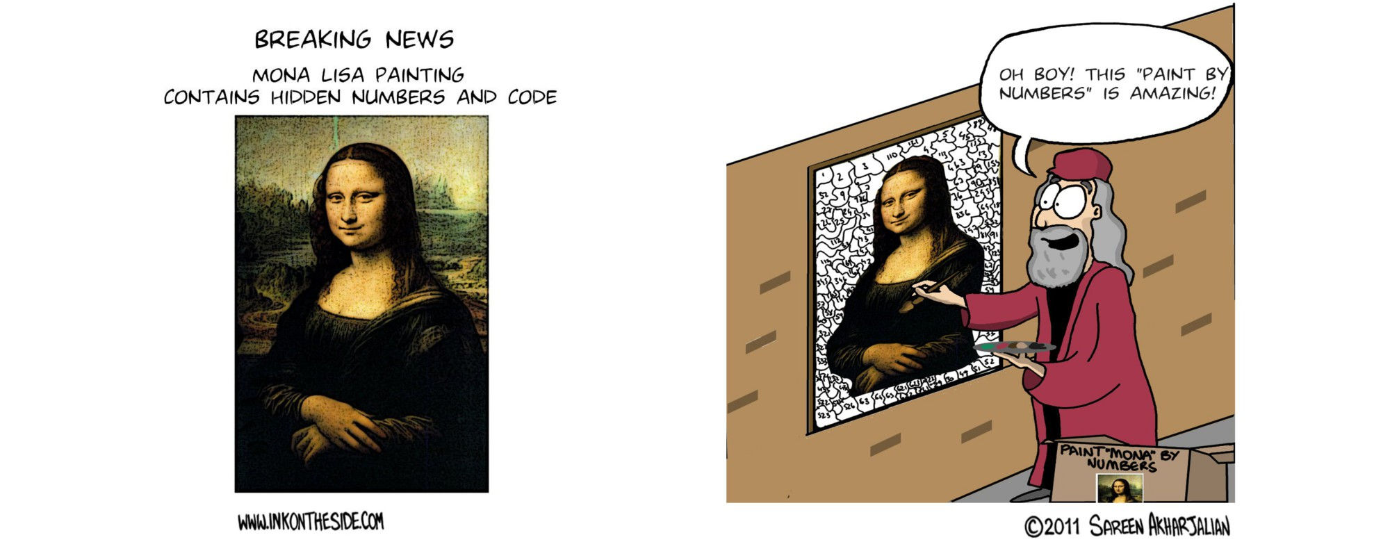 Breaking News: Mona Lisa Contains Secret Codes