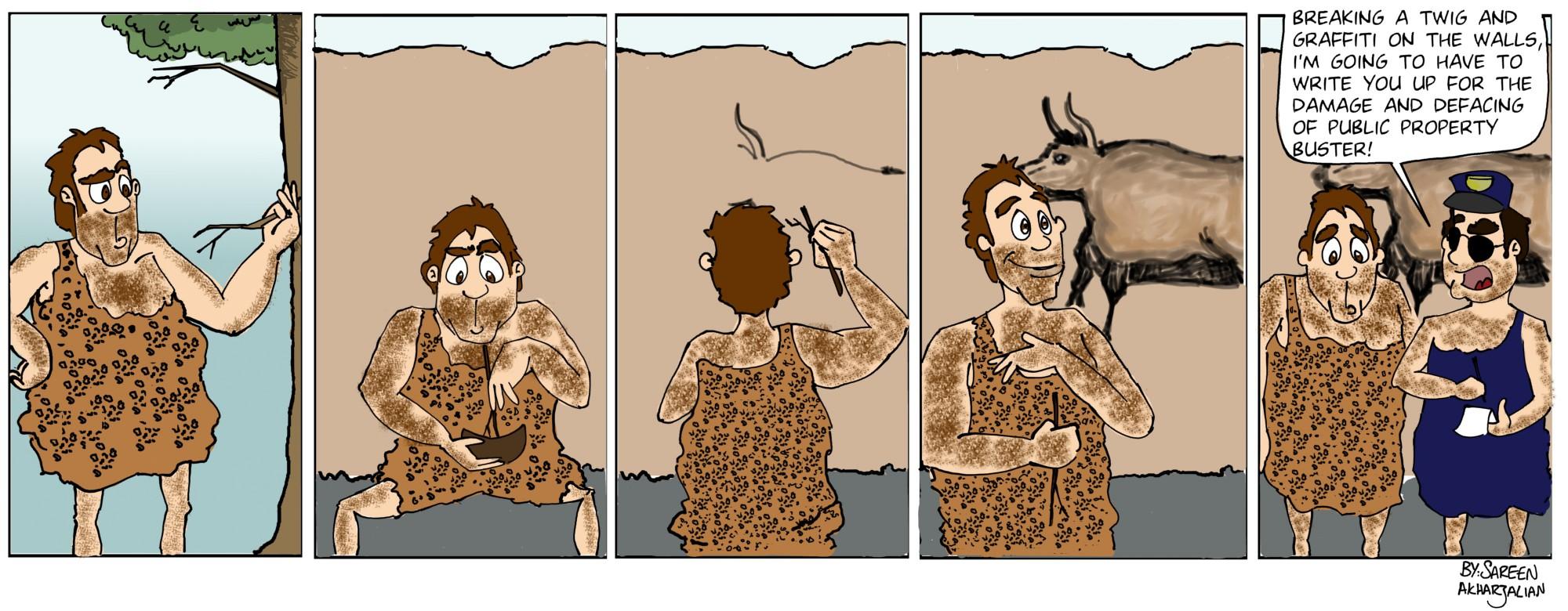 It sucks to be a caveman