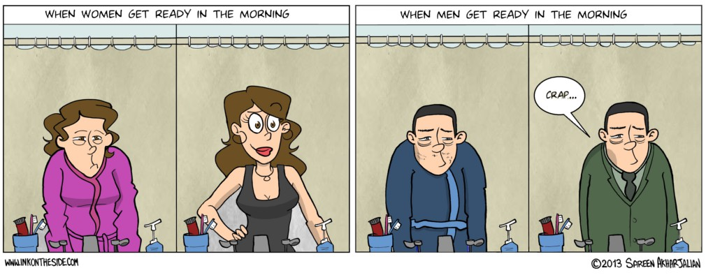 Men and Women in the Morning