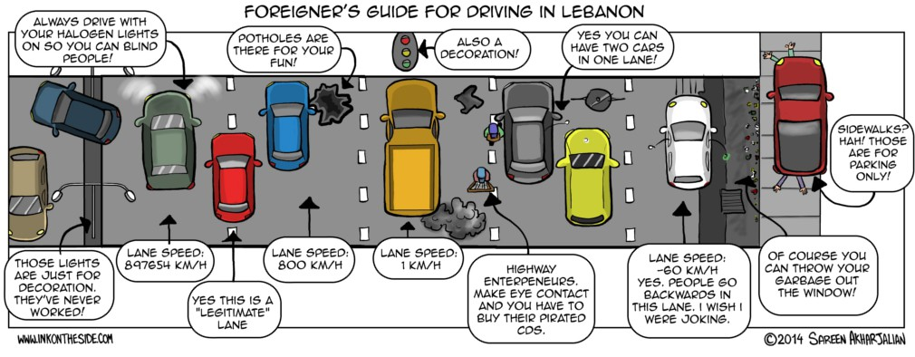 Foreigner's Guide for Driving in Lebanon