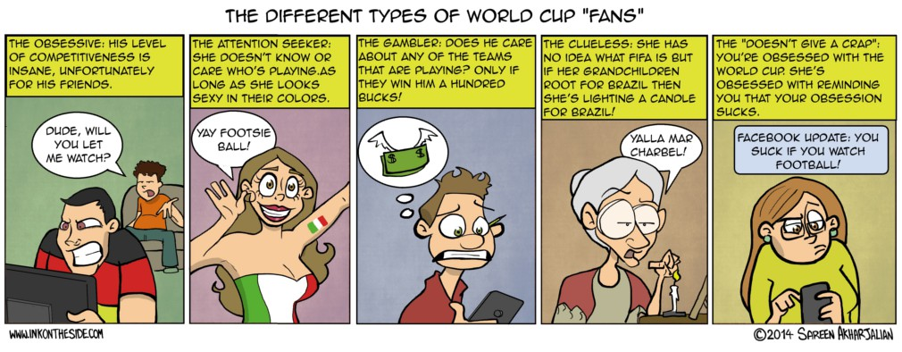 Different Types of World Cup Fans