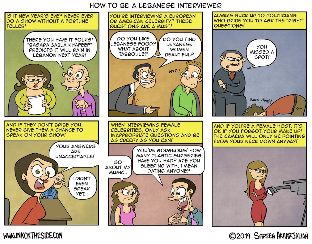 """How to be a Lebanese """"Interviewer"""""""